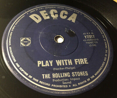 """Rolling Stones#The Last Time#2 x Label  """"Play With Fire""""/DECCA Y7217#Australien"""