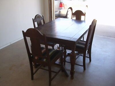 Vintage Monterey Style Dining Table and 4 Chairs