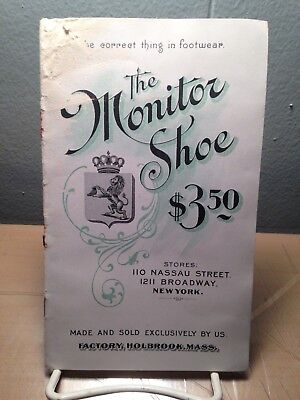 Edwardian Men's Shoes Brochure/Catalog, Monitor Shoes Factory, Holbrook, Mass.