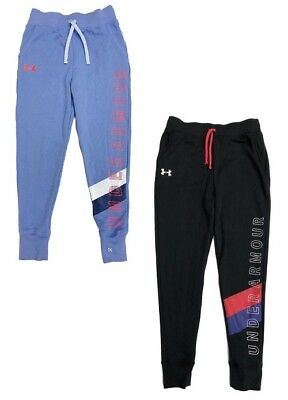 New Under Armour Girl's Fleece Athletic Sweatpants Joggers Pick Size MSRP $40.00