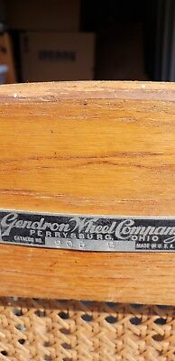 Vintage Oak Gendron Iron Wheel Company Wheelchair