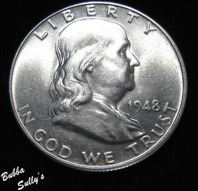 1948 Franklin Half Dollar <> ABOUT UNCIRCULATED ++