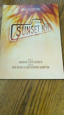 Sheet Music Book Sunset Boulevard Vocal Selections VGC.