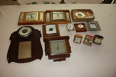 Antique Vintage Barometers & Clocks Job Lot x 12