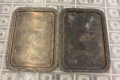 """1931 The Waldorf Astoria International Silver Co. 12"""" Tray Silver Soldered - 2"""