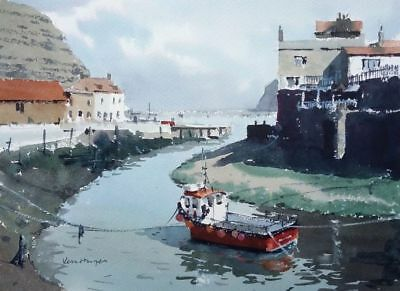 №508 A View of Staithes - Yorkshire Coast Fishing Seaside Ken Hayes