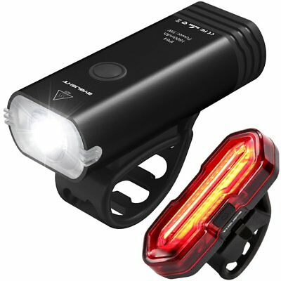 USB Direct Rechargeable Bike light Set,BYBLIGHT LED Induction Bicycle Headlight