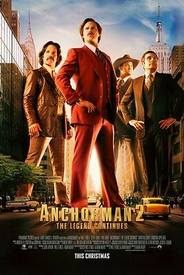 Anchorman 2 - original DS movie poster D/S 27x40 FINAL Will Ferrell