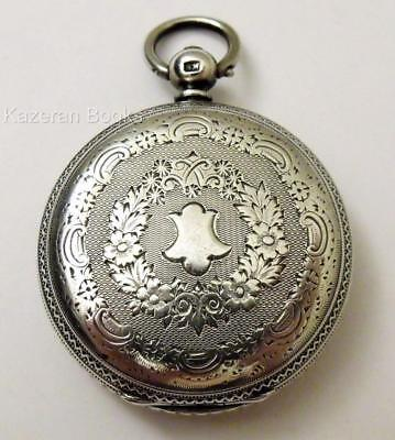Antique Victorian Solid Silver Fob Pocket Watch 1879 Warschauer & Blankensee
