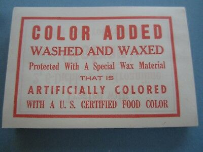 Wholesale Lot of 100 Old Vintage COLOR ADDED Washed & Waxed LABELS - Agriculture