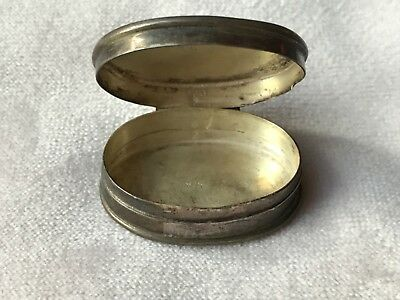 Nice little Sterling Silver Antique Victorian Pill Box 925