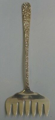 S. Kirk & Son Sterling Silver Bacon Fork In Repousse Pattern - Monogrammed