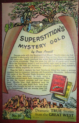 1958 Advertising Pc Superstition's Mystery Gold True Stories Great West