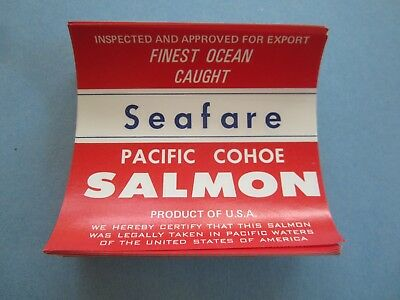 Wholesale Lot of 100 Old Vintage - SEAFARE - Pacific Cohoe SALMON - LABELS