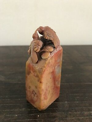 Nicely Carved Old Chinese soaptone seal