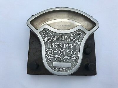 Antique Whitney Electrical Instrument Electric Ammeter Scientific Industrial