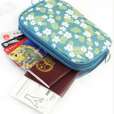 Travel Passport Credit Card Cash Holder Organizer Wallet Purse Case Bag Pouch S