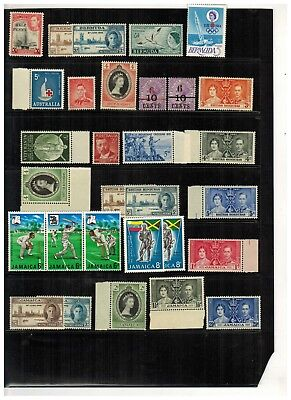 Lot of British Commonwealth Old Stamps MNH