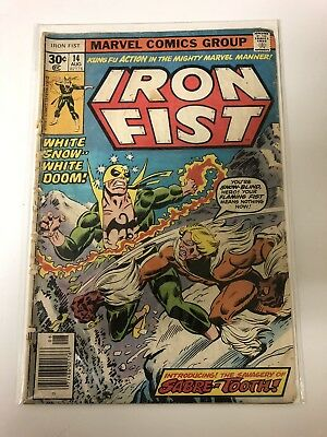 Iron Fist #14 Vol 1 Reader Copy 1st Appearance of Sabretooth