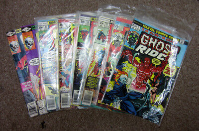 Lot of (8) Ghost Rider Vintage Bronze Age Marvel Comics - 41 43 22 21 27 24 10 2