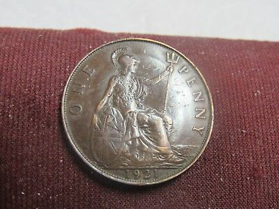 1921 = Great Britain 1 Penny=Buy Any 30 Coins Get 10% Off++Ship Free #br54