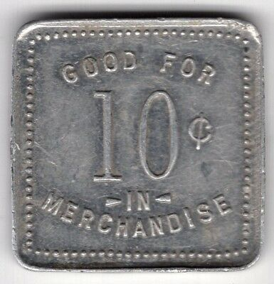 F Walker Grocery Norwich Ontario Good For 10 Ten Cents Merchant Token Coin
