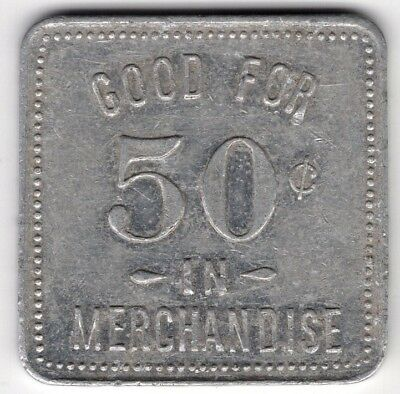 F Walker Grocery Norwich Ontario Good For Fifty 50 Cents Merchant Token Coin