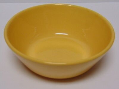 """Antique Old Vintage 1930s BAUER YELLOW 7"""" COUPE SOUP BOWL AMERICAN MODERN"""
