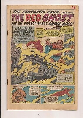 Fantastic Four #13 Marvel 1963 Coverless -First Series -First Print