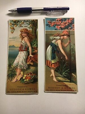 2 Antique Victorian Burt's Shoes Trade Cards Advertising