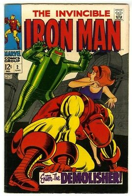 Iron Man #2 (1968) Fine+ New Marvel Silver Bronze Collection
