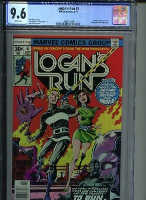 Logan's Run #6 CGC 9.6 WHITE Pages NM+ 1st Thanos Solo story Mike Zeck