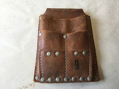 Vintage Klein Tools  Leather Lineman Electrician Tool Pouch