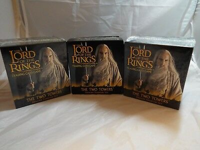 Lord Of The Rings Tcg Two Towers Deluxe Starter Set Of 3