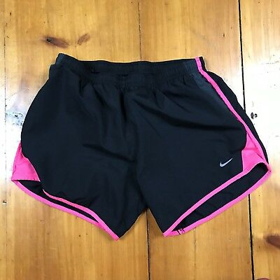 Nike Dri Fit Girl's Athletic Lined Shorts Youth Size XL Black Pink