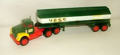 % 1960's Marx Battery Operated Hess Gasoline Tanker Truck 13 1/2 Inches Long
