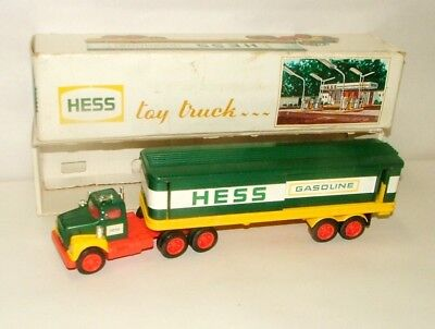 "% 1970's  Battery Operated Hess Gasoline Tanker Truck 13 1/2"" In Box Lot-1"