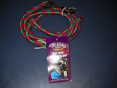 New Weaver Rope Sheep Halter With Snap