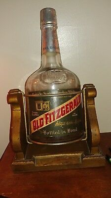 Heavy 1 Gallon Stitzel Weller Old Fitzgerald Bourbon With Cradle Label Nice