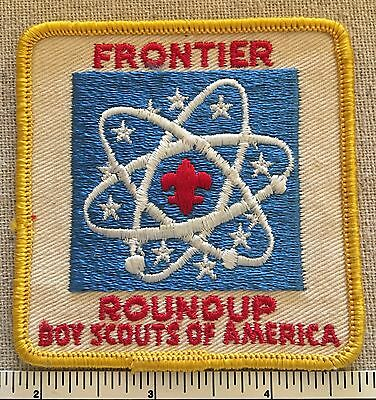 Vintage 1960s FRONTIER ROUNDUP PATCH - Boy Scouts of America - BSA Camp Scout