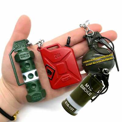 PUBG Car Keychain Bomb Grenade Mini Weapon Model Keyring Keyfob Key Chain Ring