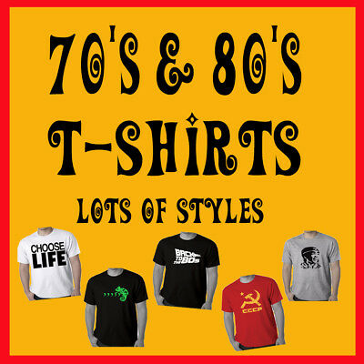70's 80's T shirts Funny T shirt Choose life etc Slogan Costume Party Tee's size
