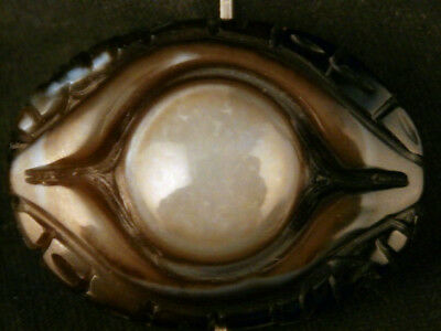 Great Pure Tibetan Agate Dzi Hand Carved *Buddha's Eyed* Bead Y077