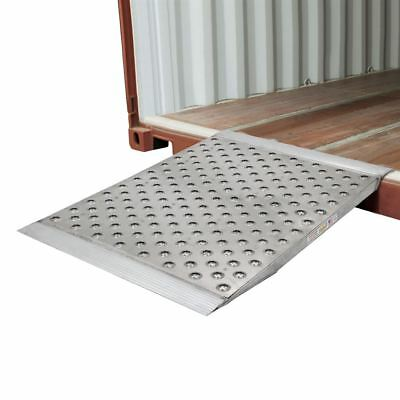 """Aluminum High-Traction Shipping Container Ramp - 48"""" L x 36"""" W"""