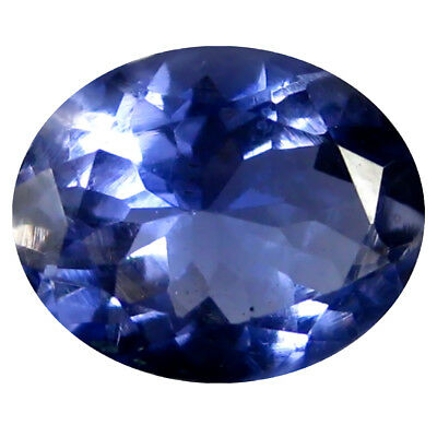 1.37 ct AAA Best Oval Shape (8 x 7 mm) Blue Iolite Natural Gemstone