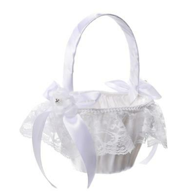 Lace Bowknot Wedding Basket Wedding Decor Ring Pillow Cushion Supplies