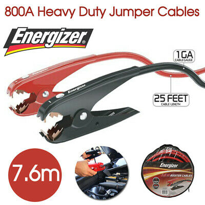 Energizer 7.6m 800A Heavy Duty Jumper Cables Surge Protected Jump Car Booster