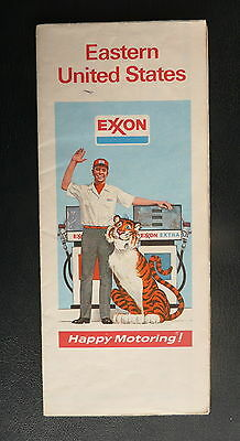 1974 Eastern United States road map Exxon oil gas