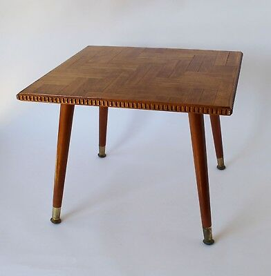 Vintage Retro 60s/70s INLAID PARQUET TIMBER COFFEE TABLE Occasional/Side EAMES