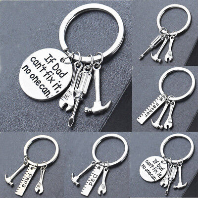 Family Wrench Hammer Tools Keyring Dad Keyring Jewelry Father Charms Key Chain
